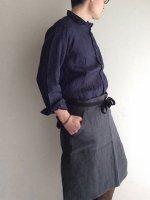 【完売・生産終了】ベーカーズリネンエプロン チャコールグレー bakers linen apron charcoalgrey/DjangoAtour