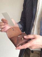 掬い縫いカードケース(アケロ)/スカンクとアルマジロ