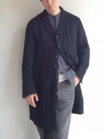 アナザーラインリネンコート ブラック anotherline linen coat black/DjangoAtour ANOTHERLINE