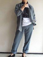 リネンイージー hosomi パンツ セラドン  linen easy hsm pants celadon/DjangoAtour