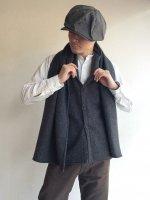 ボタンショール ウールパターンツイード Button Shawl Wool Pattern Tweed/Workers