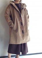 コーデュロイ フーデッドコート Corduroy Hooded Coat Fawn/Yarmo