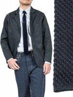 シルクニットタイ ダークネイビー Silk Knit Tie,Dark Navy/Workers