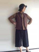 イージークォーターパンツ ブラックコーデュロイ Easy Quarter Pants Black (フリーサイズ)/Yarmo