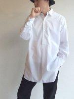 1920年代フランスのダブルカフスシャツ 1920's French Double Cuffs Work Shirt White