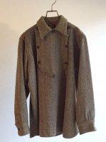 1930年代ウールリッチ社製ツイードハンティングシャツ 1930's Dameged Wool Hunting Shirt by Woolrich Brown