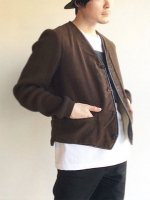 【Price off】1950年代フランス フェイクスエードとニットのブルゾン 1950's French Fake Suede × Knit Blouson Brown