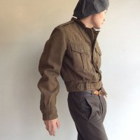 【Price off】1950年代イギリス軍ロイヤルアーミーメルトンブルゾン 1950's British Royal Army Wool Melton Blouson Light Brown