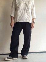 ウールイージーパンツ ブラック wool easy pants  black/DjangoAtour