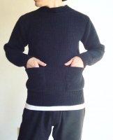 クラシックモックネックセーター黒 CLASSIC MOCKNECK SWEATER black/DjangoAtour