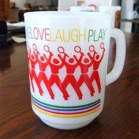 9オンスマグ Live Love Laugh Play テニス  Firekingファイヤーキング 1977年〜1986年