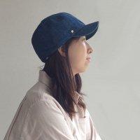 ボールキャップ デニム ブルー BALLCAP DENIM Blue/DECHO