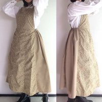 【3000円引】EURO KITCHEN APRON SKIRT Beige/NAPRON