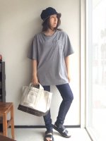 ダブルネックTシャツDOUBLE NECK T-SHIRT  Gray/NAPRON
