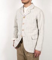Lt Creole Jacket, Cotton Linen Stripe/Workers