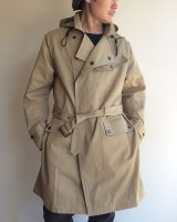 Hooded Moto Coat, Beige Ventile Twill/Workers