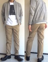 Workers Officer Trousers, Slim, Type 2 Zip, Beige Chino/Workers