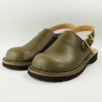 「blues ブルース」トイアーノ・グリーン おでこ靴職人が作ったサボサンダル/ヒラキヒミ。