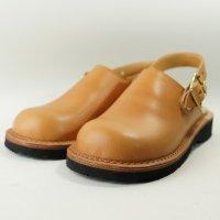 「blues ブルース」トイアーノ・キャメル おでこ靴職人が作ったサボサンダル/ヒラキヒミ。