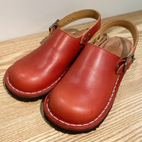 「blues ブルース」Red おでこ靴職人が作ったサボサンダル/ヒラキヒミ。