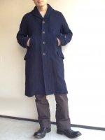 victorians shawlcollar heavylinen coat indigo/DjangoAtour ANOTHERLINE