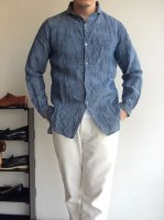CLASSIC FRENCHWORK LINEN SHIRT bluechambray/DjangoAtour ANOTHERLINE