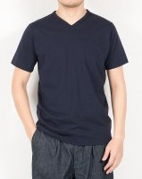 3-PLY-Tシャツ Vネック Navy/Workers