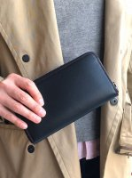 ロングウォレット ブラック&レッド Long Wallet Noblessa Calf  Black × Red Stitch/Workers