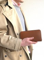 【30%OFF】ロングウォレット ブラウン&ブラウン Long Wallet Noblessa Calf  Brown × Brown Stitch/Workers