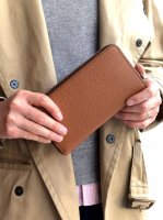 ロングウォレット ブラウン&グリーン Long Wallet Noblessa Calf  Brown × Green Stitch/Workers