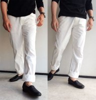 FRENCHWORK HIGHCOUNTTWILL TROUSERS white/DjangoAtour
