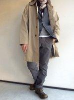 バルカラーコート ギャバジンベージュ Bal Collar Coat Gabardine, Beige/Workers