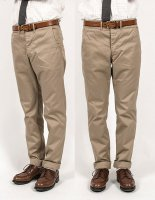 Officer Trousers, Slim, Type 2, Beige Chino/Workers