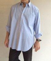 1990年代フランス オーバーサイズシャツ ストライプ・ブルー 1990's Oversized Shirt