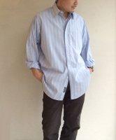 1990年代アメリカ オーバーサイズシャツ ストライプ・ブルー 1990's Oversized Shirt