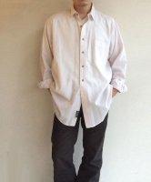 1990年代アメリカ オーバーサイズシャツ ピンストライプ・ホワイト 1990's Oversized Shirt