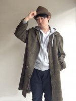 1960年代 イギリス ウール バルマカーンコート 1960's British  Wool Balmacaan Coat  Brown