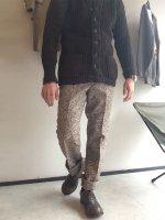 1970年代 フランス ウールツイードパンツ 1970's Dead Stock French  wool Tweed Pants   Chocolate