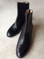 TANINO CRISCI タニノクリスチー バックジップショートブーツ黒 34ハーフサイズ(21.5cm)MADE IN Italy