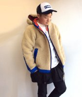 RABBIT HOODIE ラビットフーディ BEIGE×BLUE/COMFY OUTDOOR GARMENT