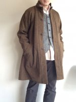 classic farmers shetlandwooltweed coat/DjangoAtour ANOTHERLINE