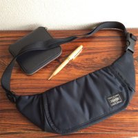 Travellers Funny Bag Black/KAPTAIN SUNSHINE Made by PORTER