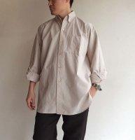 ビッグボタンダウンシャツ ブラウンピンストライプ/KAPTAIN SUNSHINE