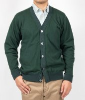 FC high gauge Knit, Cardigan, Forest Green/Workers