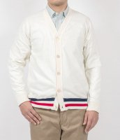 FC high gauge Knit, Cardigan, White/Workers