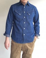 Western Shirt, 8 oz Indigo denim, Washed/Workers