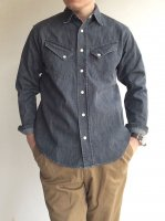 Western Shirt, 8 oz Black denim, Washed/Workers