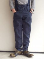 1960's Dead Stock Italian Air Force Pilot Pants Navy(サスペンダー付属)