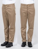 Officer Trousers, Slim Fit Class1, 10.5 oz Chino, Beige/Workers<img class='new_mark_img2' src='https://img.shop-pro.jp/img/new/icons3.gif' style='border:none;display:inline;margin:0px;padding:0px;width:auto;' />