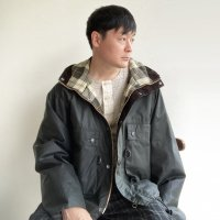 HOODED FISHING JACKET (Field Short Hoody Jacket) Made by Barbour Sage Green/KAPTAIN SUNSHINE